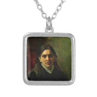 Ilya Repin- Portrait of Actress Pelagey Strepetova Necklace