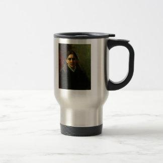 Ilya Repin- Portrait of Actress Pelagey Strepetova Stainless Steel Travel Mug