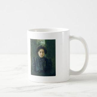 Ilya Repin- Portrait of artist daughter Nadezhda Classic White Coffee Mug