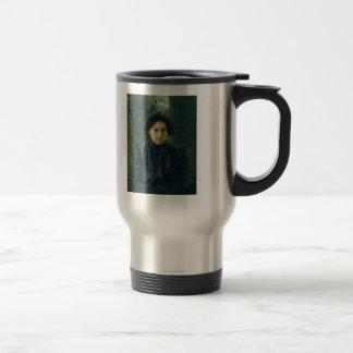 Ilya Repin- Portrait of artist daughter Nadezhda Stainless Steel Travel Mug