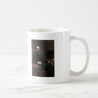 Ilya Repin- Portrait of Composer Nikolay -Korsakov Basic White Mug