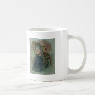 Ilya Repin: Portrait of E. Zvantseva Basic White Mug