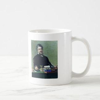 Ilya Repin- Portrait of engineer Ivan Adadurov Basic White Mug