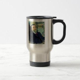 Ilya Repin- Portrait of Ivan Zvetkov 15 Oz Stainless Steel Travel Mug