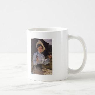 Ilya Repin- Portrait of Nadezhda Repina Basic White Mug