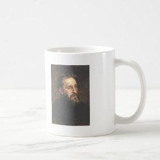 Ilya Repin- Portrait of painter Grigory Myasoyedov Basic White Mug