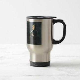 Ilya Repin-Portrait of painter & sculptor Mikhail Stainless Steel Travel Mug
