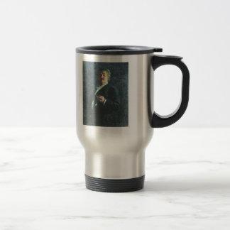 Ilya Repin-Portrait of painter & sculptor Mikhail 15 Oz Stainless Steel Travel Mug