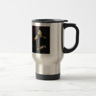 Ilya Repin-Portrait of poet Grand Prince Stainless Steel Travel Mug