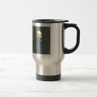 Ilya Repin-Portrait of railroad tycoon Stainless Steel Travel Mug