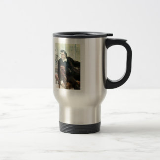Ilya Repin- Portrait of the Actor Pavel Samoylov Stainless Steel Travel Mug