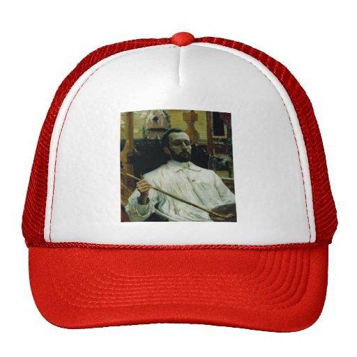 Ilya Repin- Portrait of the Artist D.N. Kardovskiy Trucker Hat