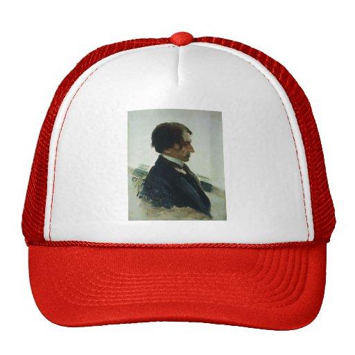 Ilya Repin- Portrait of the Artist Isaak Brodskiy Mesh Hats