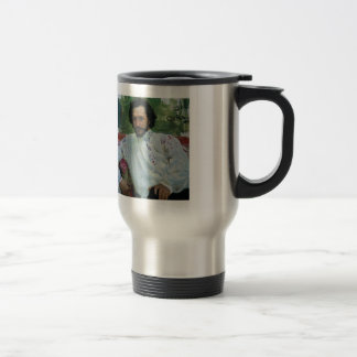 Ilya Repin- Portrait of the Author Leonid Andreev Stainless Steel Travel Mug