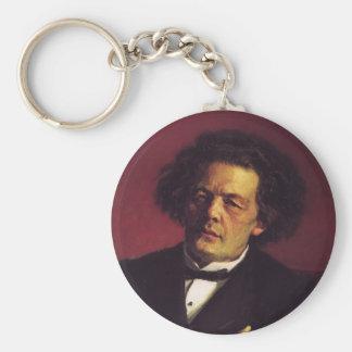 Ilya Repin-Portrait of the pianist Key Chain