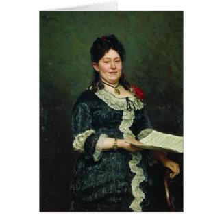 Ilya Repin- Portrait of the Singer Alexandra Molas Greeting Card