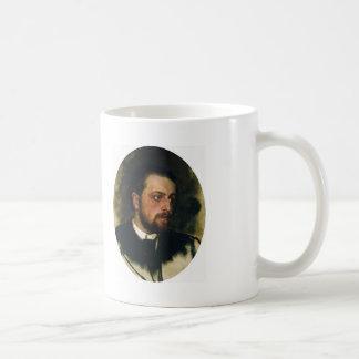 Ilya Repin- Portrait of writer Vladimir Chertkov Basic White Mug