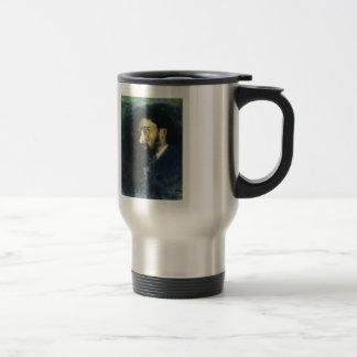 Ilya Repin- Portrait of writer Vsevolod Garshin Stainless Steel Travel Mug