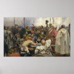 Ilya Repin Reply of the Zaporozhian Cossacks Poster