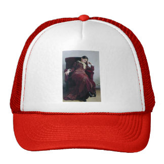 Ilya Repin- Rest Portrait of Vera Repina Mesh Hats