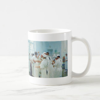 Ilya Repin- The Surgeon in Operating Theater Basic White Mug