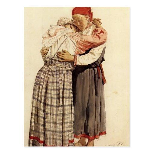 Ilya Repin: Two woman Postcards