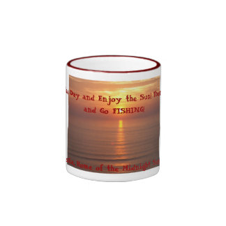 IM002432, Take in The Day and Enjoy the Sun! Th... Ringer Mug