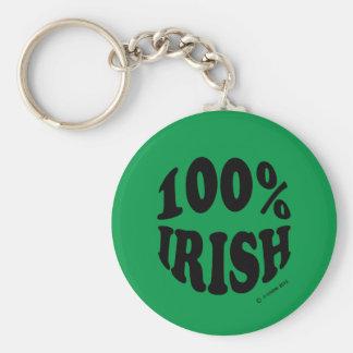 I'm 100% Irish Key Chain
