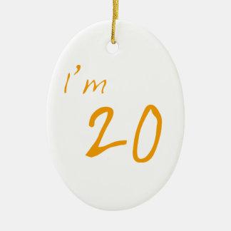 I'm 20 ceramic oval decoration