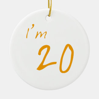 I'm 20 round ceramic decoration