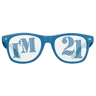 I'm 21 - Blue 21st Birthday Party Glasses Gag Gift