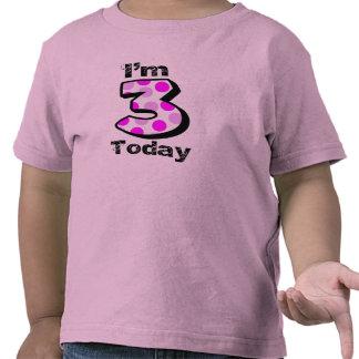 I'm 3 Today Girls Birthday Shirt