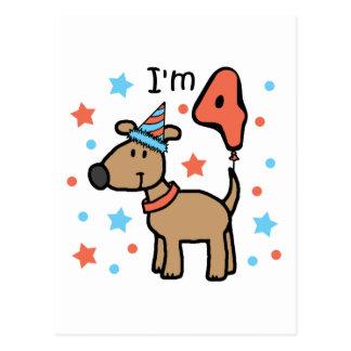 I'm 4 Doggie Postcard