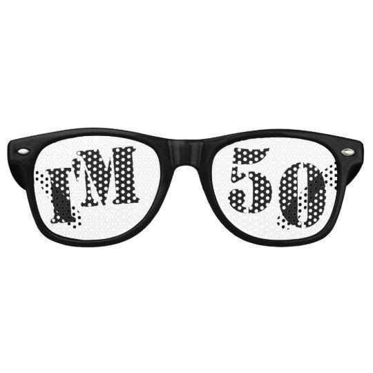 I'm 50 - 50th Birthday Party Glasses Gag