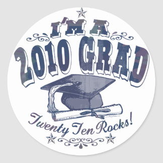 I'm a 2010 Grad T-Shirts and Gifts Round Sticker
