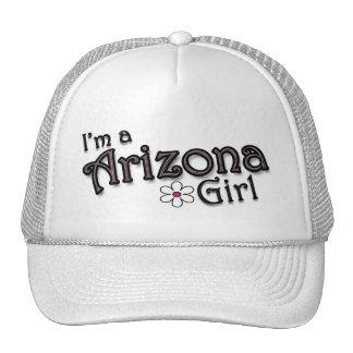 I'm a Arizona Girl, Flower, Ladies Baseball Cap Mesh Hats