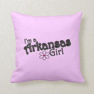 I'm a Arkansas Girl Flower, Pink Decorative Pillow