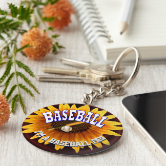 I'm a baseball fan key ring