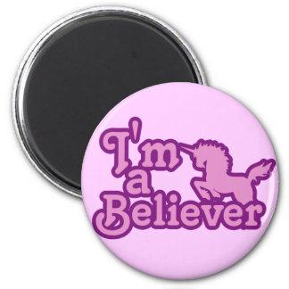 I'm a Believer in Unicorns 6 Cm Round Magnet