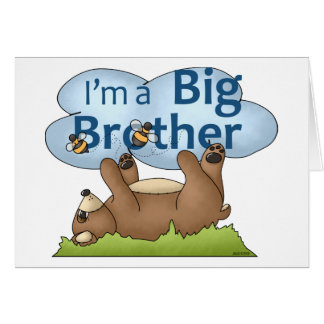 I'm a Big Brother bear Greeting Card