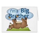 I'm a Big Brother bear Greeting Cards