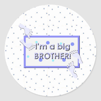 I'm a big brother round stickers