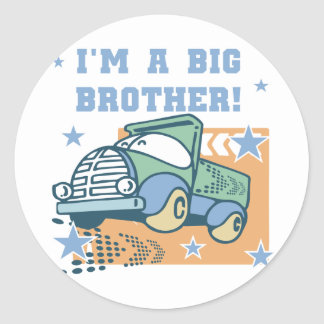 I'm a Big Brother - Truck Tshirts and Gifts Round Stickers
