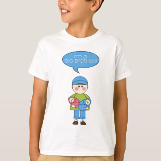 i'm a big brother (twin siter and brother) tshirt