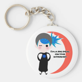 I'm a Big Deal on the Internet - Blue Spectrum Basic Round Button Key Ring