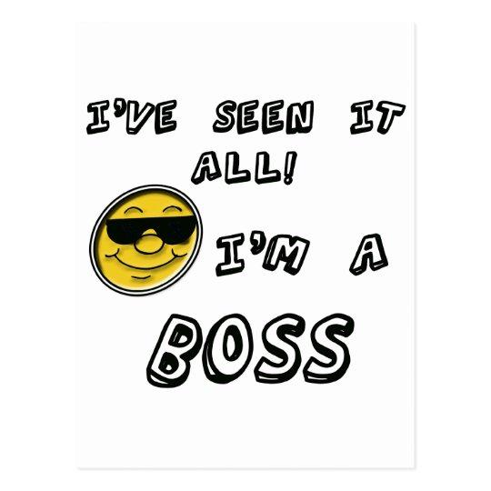I'm A Boss Postcard