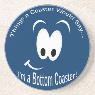I'm a Bottom Dark Coaster