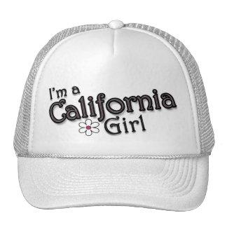 I'm a California Girl, Flower, Ladies Baseball Cap Hat