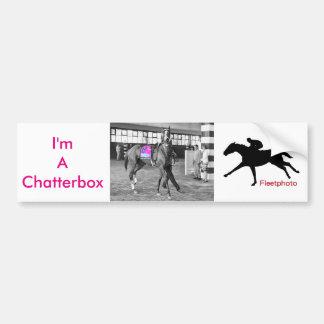 I'm a Chatterbox Bumper Sticker