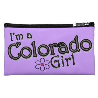 I'm a Colorado Girl, Flower, Purple Bagettes Bag Makeup Bag